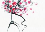 beautiful woman. fashion illustration. watercolor painting - 206167375