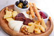 Quadro cheese plate with olives