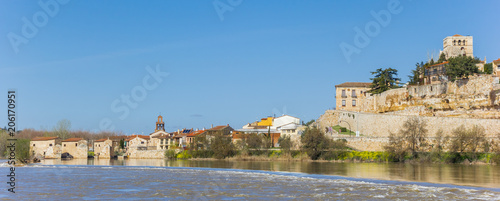 Panorama of Zamora and the Duero river, Spain