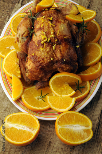 Kana oranssi Pollo all'arancia Chicken with orange con naranja