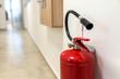 Quadro Fire extinguisher. Close-up.