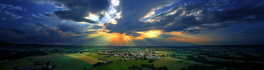 Sonnenuntergang über Westerhausen