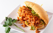Buffalo Chicken Sub Sandwich on White Background - 206205332