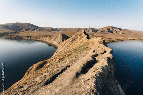 Fotobehang Kameleon The ridge of Cape Chameleon in Crimea