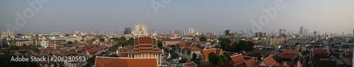 Aluminium Bangkok Bangkok panoramique temple gratte ciel