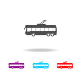 trolleybus icon. Elements of cars in multi colored icons. Premium quality graphic design icon. Simple icon for websites, web design, mobile app, info graphics