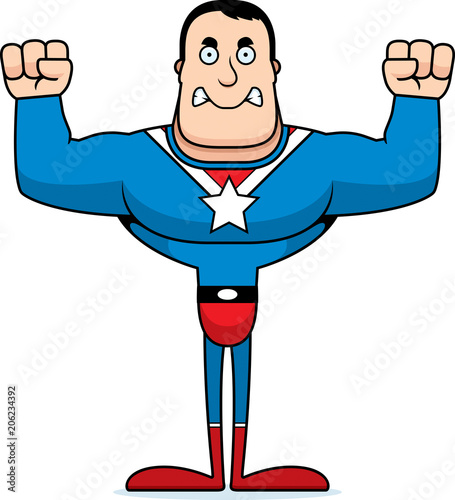Cartoon Angry Superhero