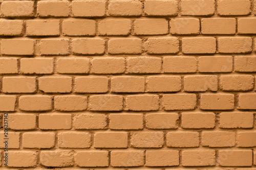 Orange painted brick wall.
