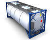 3d illustration tank container isolated.