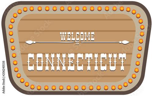 Vintage street sign Connecticut
