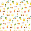 Summertime elements vector pattern - 206244335