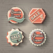 commercial labels retro style vector illustration design