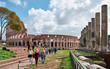 Colosseum, tourists visit the archaeological site