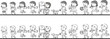 school kids vector - 206287948
