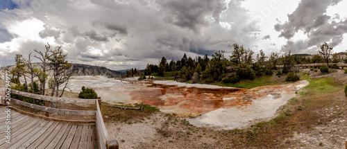 Mamoth hot springs panorama