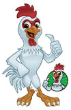 Cartoon Rooster Giving a Thumbs Up Vector Illustration