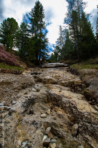 Fotobehang Bergrivier Landschaftsbild Tirol 05