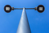 Street lamp and blue sky on background - 206317554
