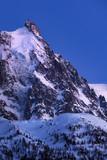 Aiguille du Midi needle at twilight. Mont Blanc mountain range, Chamonix, Haute-Savoie, Alps, France - 206317724