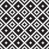 Seamless tribal black and white pattern - 206321517