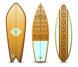 Wooden surfboards set - 206321775