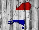 Karte der Niederlande auf Textur