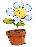 flor con maceta