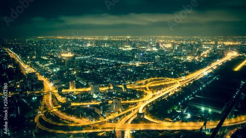 Aluminium Bangkok Bangkok By Night