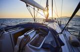 Sunset on a yacht - 206332914