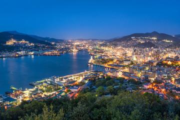 Stadt Nagasaki in Japan