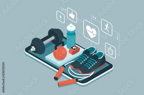 Plexiglas Fitness Fitness, sports and workout app