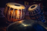 ethnic musical instrument tabla in the interior of the chill-out - 206342179