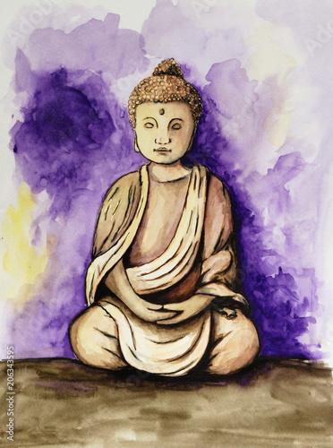 Canvas Boeddha Buddha mit Hintergrund
