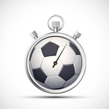 Icon Stopwatch  A Soccer Ball Sticker