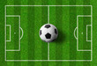 Fußballspielfeld mit Ball