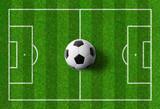 Fußballspielfeld mit Ball - 206349194