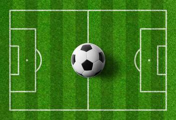 Fußballspielfeld mit Ball © Zerbor