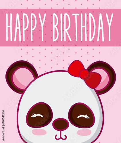 Panda Bear In Cute Happy Birthday Card Buy Photos Ap Images