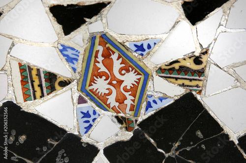 Barcelona, random mosaic pattern