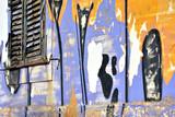 Graffiti wall grunge window