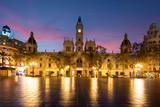 Valencia City Hall on Plaza del Ayuntamiento in Valencia, Spain.