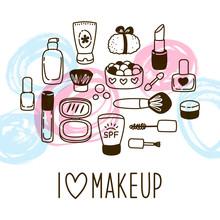 Cute Cosmetics  For Your Design Sticker
