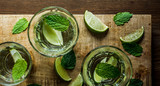 Water with fresh lime and mint