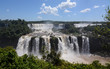 Panoramica de las cataratas de iguazu desde brasil