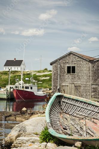 Fotobehang Schip Peggy's Cove Fishing Village
