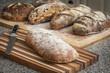 Artisan Breads on cutting board