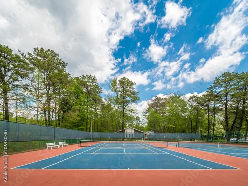 Fotobehang Tennis Outdoor tennis court