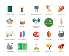 Sport Icons Set Twenty Two Multicolored Flat Icons Sticker