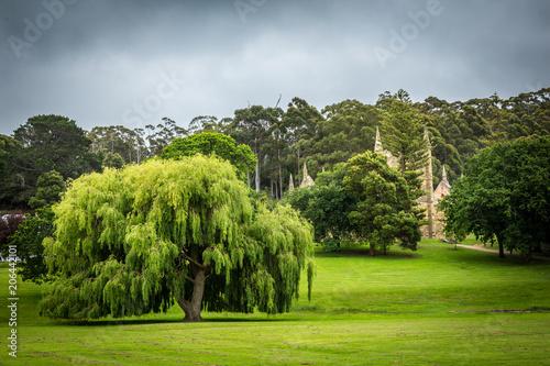 Ogrody i budynki w Port Arthur miejscu kolonii karnej światowego dziedzictwa w Tasmanii