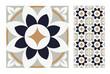 vintage tiles patterns antique seamless design in Vector illustration - 206443553